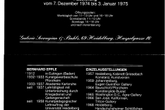 Exhbition Galerie Sevrugian, Heidelberg, 1975