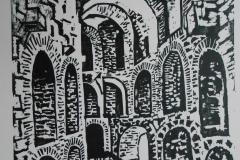 woodcut-ruins