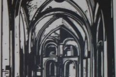 woodcut-church-interior
