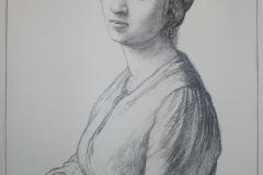 lithograph-artist's wife Gudrun